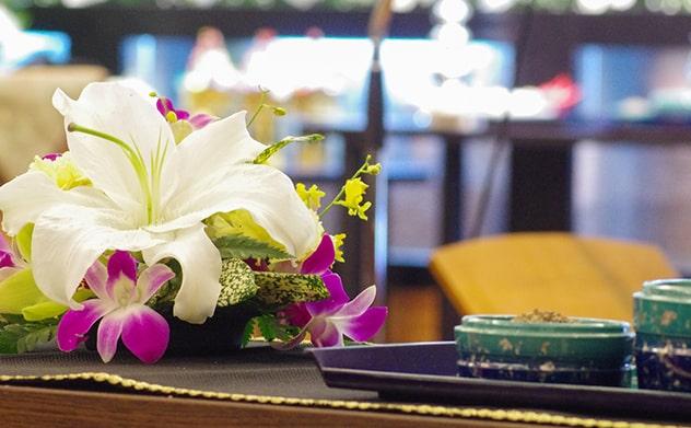 祭壇に飾られたお花