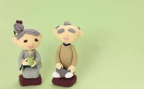 老父婦の人形